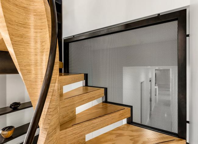 Спиральная лестница из MPP (авторы проекта MW Design Workshop)
