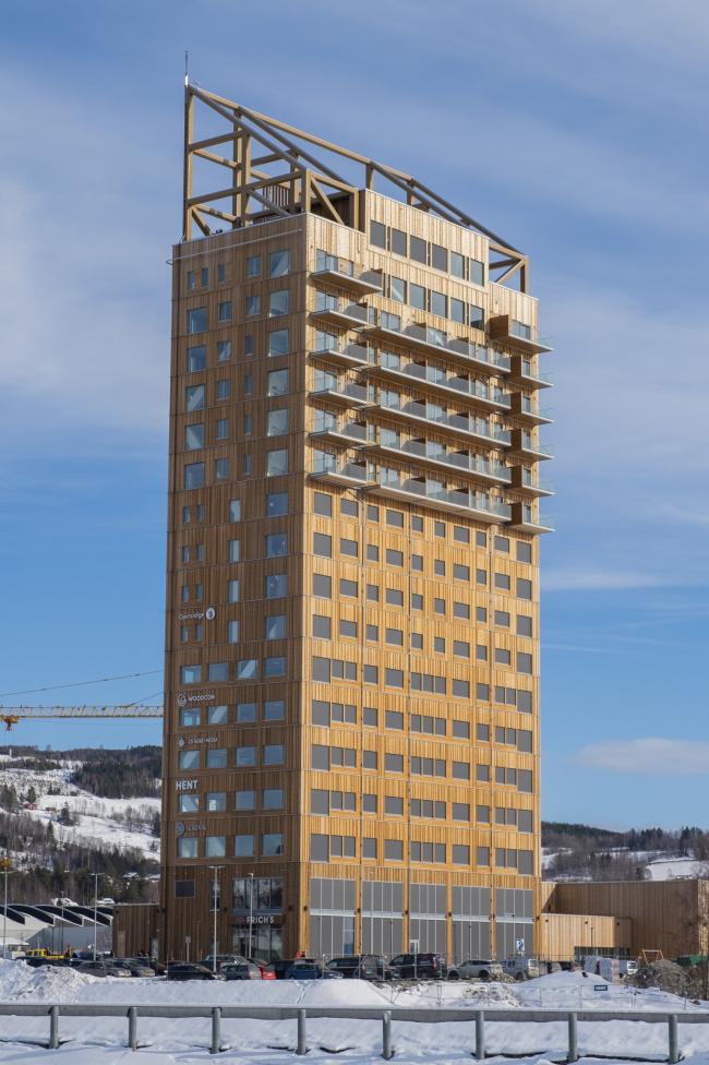 Башня Mjøstårnet