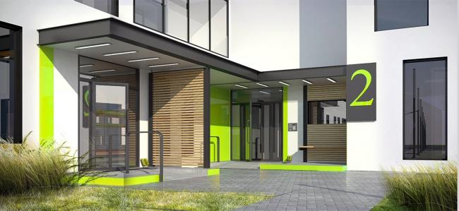 """Dom na Lvovskoi"" housing complex. The entrance group"