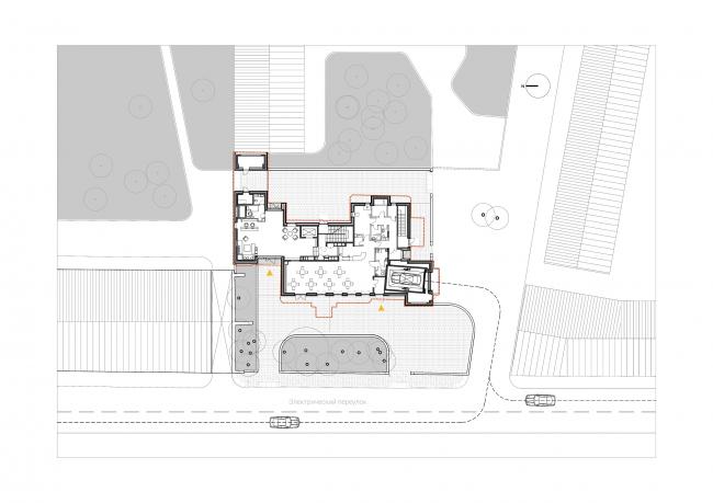 Edison House. План 1 этажа. Проект 2018 года