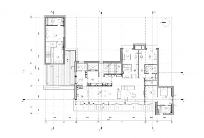 Edison House. План  пентхауса 6 этажа. Проект 2018 года