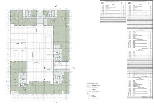Жилой комплекс ЗИЛАРТ (лот №4). План 1 этажа