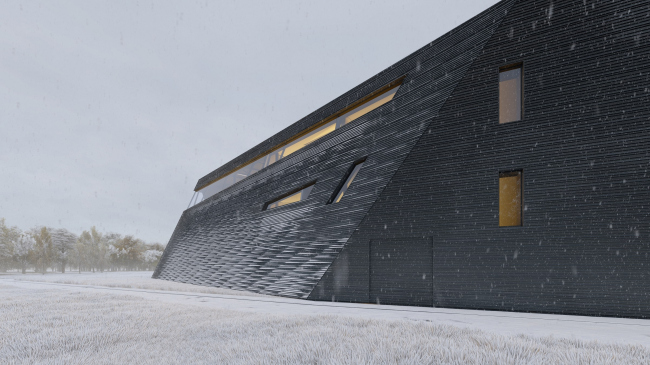 Distillery; winter view