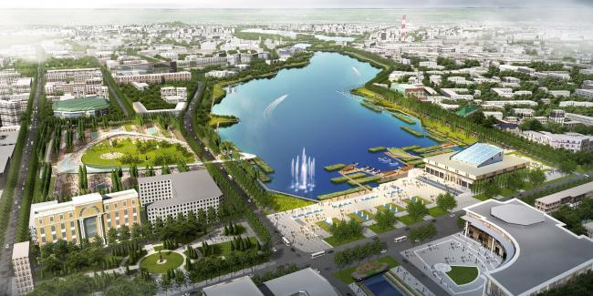 Развитие и благоустройство набережных системы озера Кабан