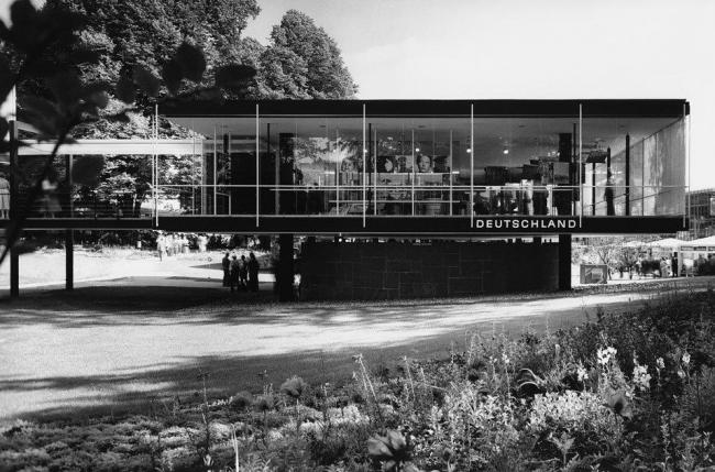 З. Руф, Э. Айерман. Павильон Германии на Экспо-58 в Брюсселе