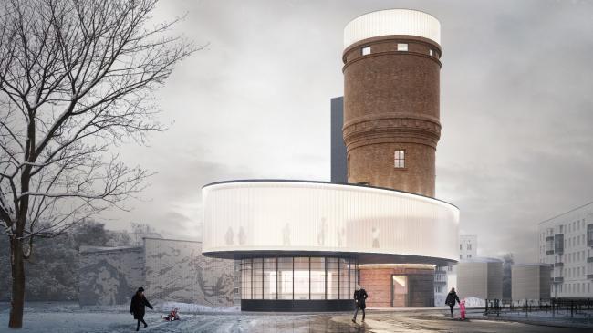 Реконструкция водонапорной башни в Щербинке