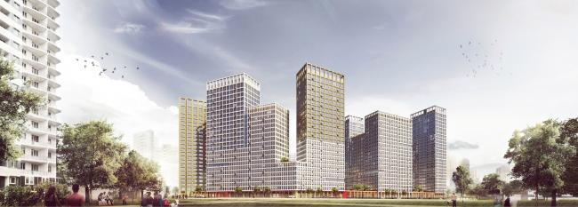 """Universitetsky"" multifunctional complex. Perspective image"