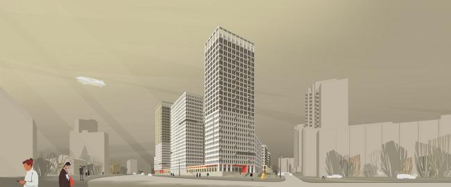 Mногофункциональный комплекс «Университетский». Перспективное изображение, графика