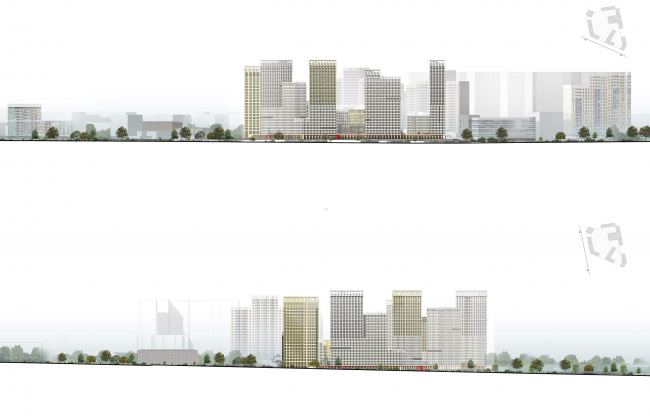 """Universitetsky"" multifunctional complex. Development drawings"