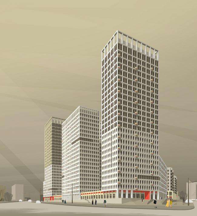 Mногофункциональный комплекс «Университетский». Фрагмент