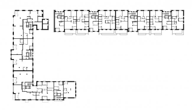 ЖК «Александровский Сад». Корпус 1, план 1 этажа