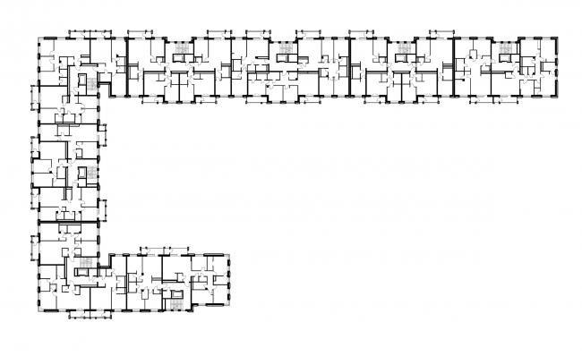 ЖК «Александровский Сад». Корпус 1, план 3 этажа