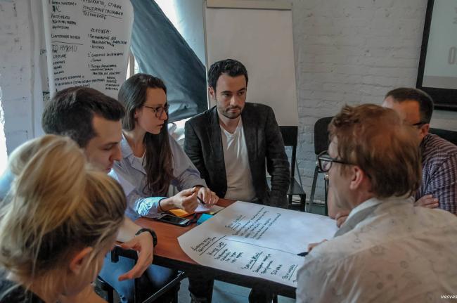 Командное обсуждения концепции развития общественных пространств © Orchestra Design