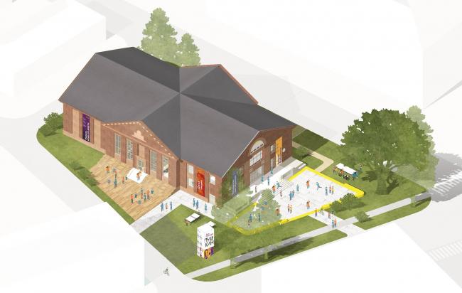 Концепция модернизации домов культуры Подмосковья, занявшая третье место на конкурсе в 2018 году. Nowadays Office + Orchestra + Pictorica.