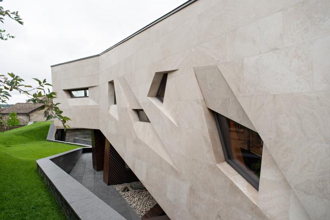 Дом «Пружина»: Восточный фасад. Окна библиотеки