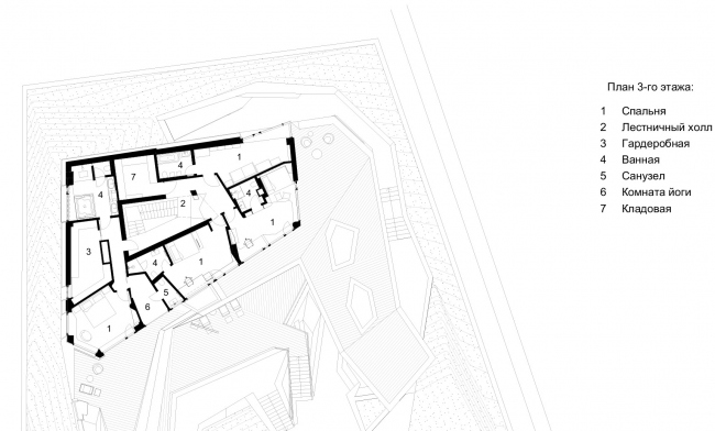 """The """"Spring"""" house: plan of the 3rd floor"""