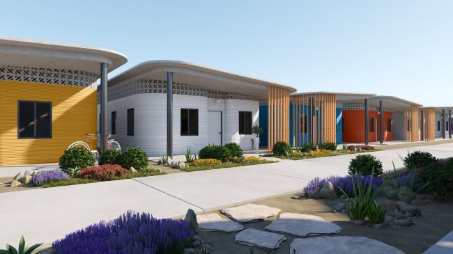 Проект поселения с напечатанными на 3D-принтере домами