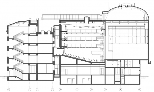 Boris Eifman Dance Academy, 2nd stage. Section view