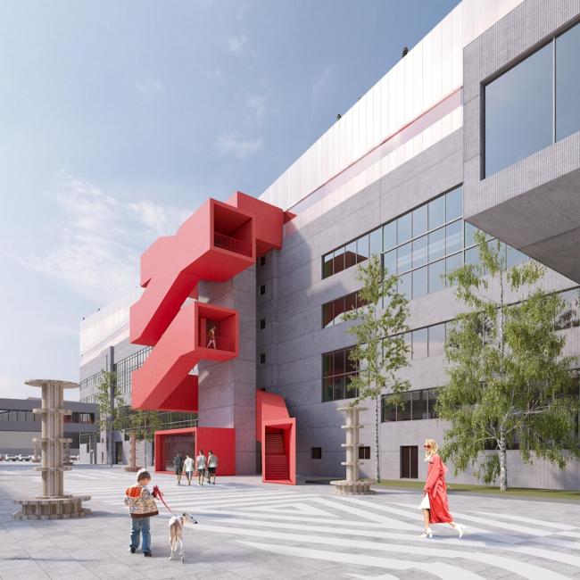 Проект общественно-делового кампуса для пространства «Севкабель Порт». Конкурс «Горизонт»