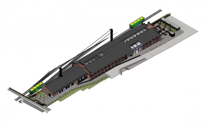 Концепция капитального ремонта бывшего вагонного депо. Участок проектирования