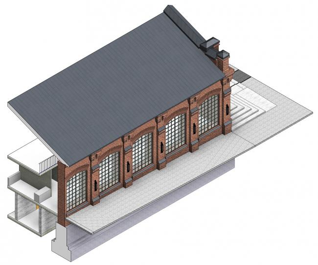 Концепция капитального ремонта бывшего вагонного депо. Фасады