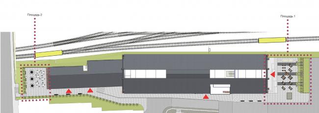 Концепция капитального ремонта бывшего вагонного депо. Генплан