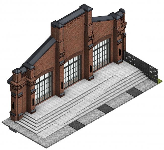Концепция капитального ремонта бывшего вагонного депо. Благоустройство