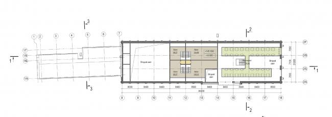 Концепция капитального ремонта бывшего вагонного депо. План 2 этажа