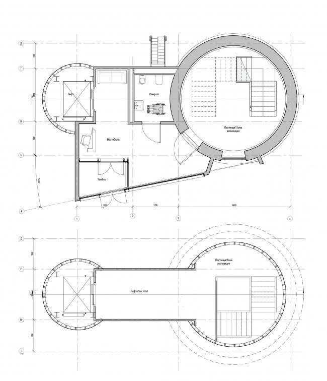 Концепция редевелопмента водонапорной башни Highlight. Планировочные решения