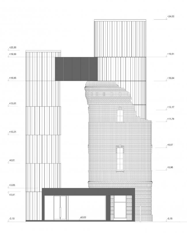 Концепция редевелопмента водонапорной башни Highlight. Фасад