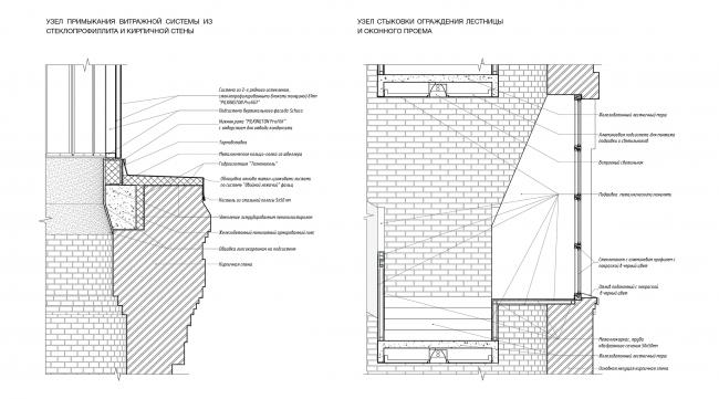Концепция редевелопмента водонапорной башни Highlight. Принципиальные узлы