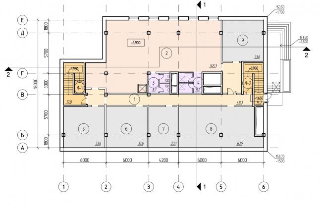 БЦ «Красносельский». План цокольного этажа