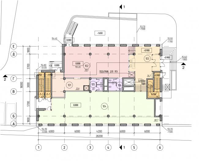 БЦ «Красносельский». План 1 этажа