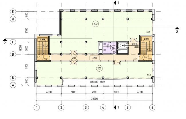БЦ «Красносельский». План 2 этажа