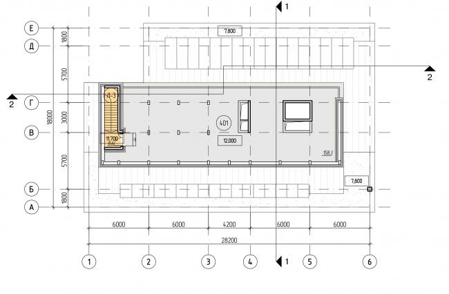 БЦ «Красносельский». План технического этажа