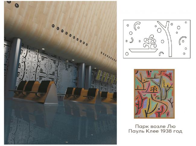 Интерьерные решения с перфорированными панелями «Пауль Клее»