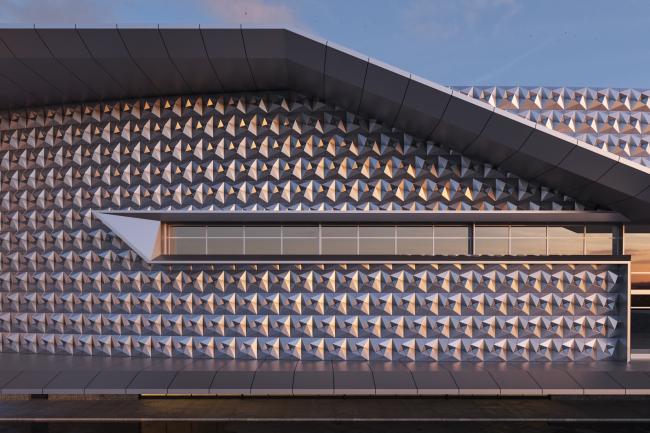 Проект торгового центра с кассетами «Тетраэдр»