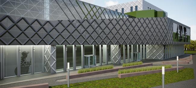 Проект Торгового Центра с кассетами «Сетка»