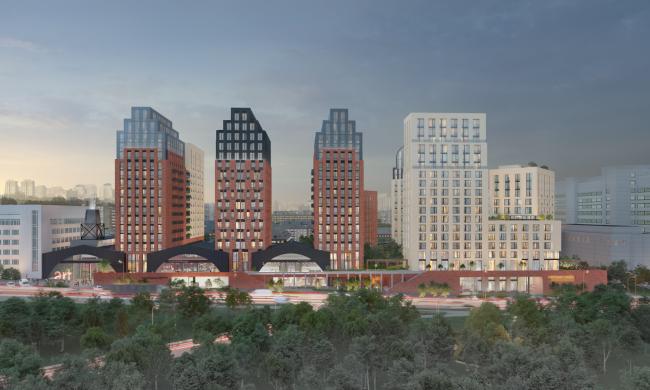 The multifunctional housing complex at Malaya Pochtovaya, 12