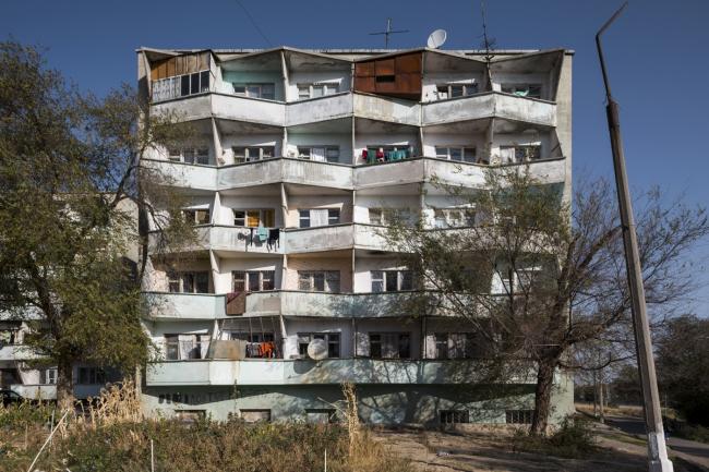 Жилой дом в Чкаловске (Таджикистан). 1970-е годы.