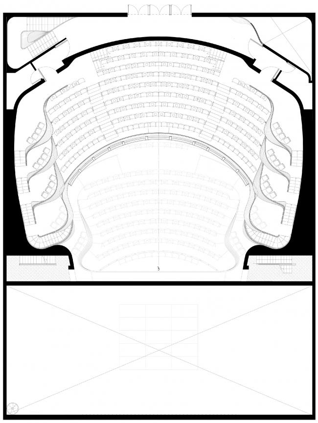 Реконструкция театра «Альянс» в Атланте. План-схема этажа
