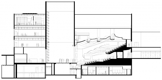 Реконструкция театра «Альянс» в Атланте. Разрез