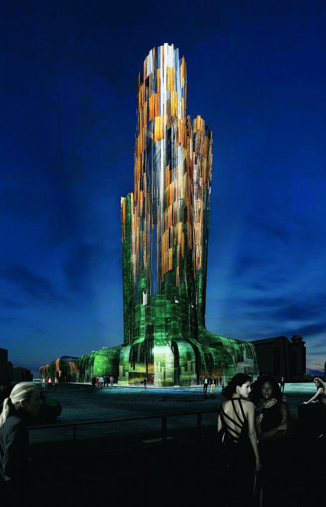 Высотное здание-гостиница, г. Ханты-Мансийск © Designed by Erick van Egeraat