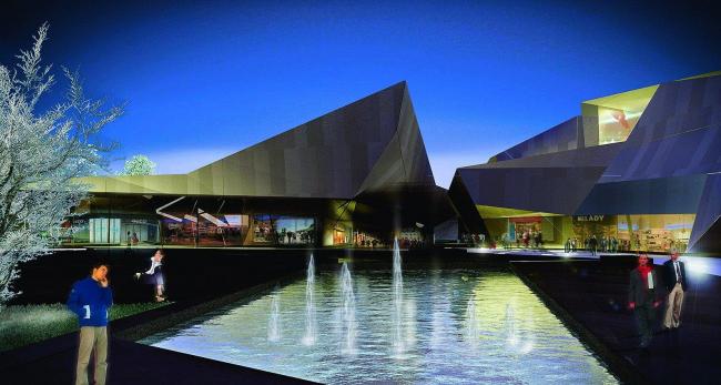 Многофункциональный торгово-досуговый комплекс «Югорский полюс» © Designed by Erick van Egeraat