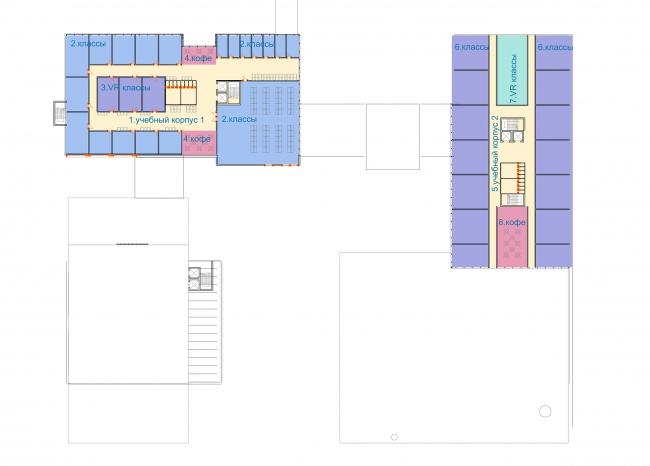 Концепция корпоративного университета ГК «Трансмашхолдинг». Схема плана 3 этажа
