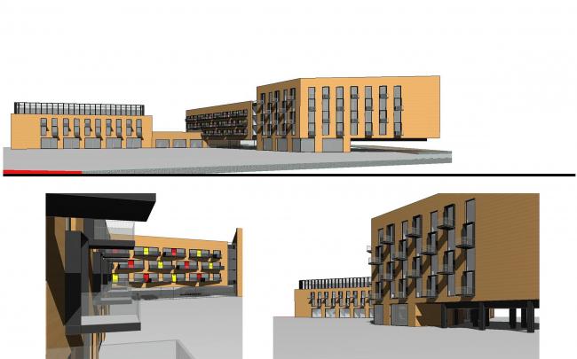 Концепция корпоративного университета ГК «Трансмашхолдинг». Схемы фасадов