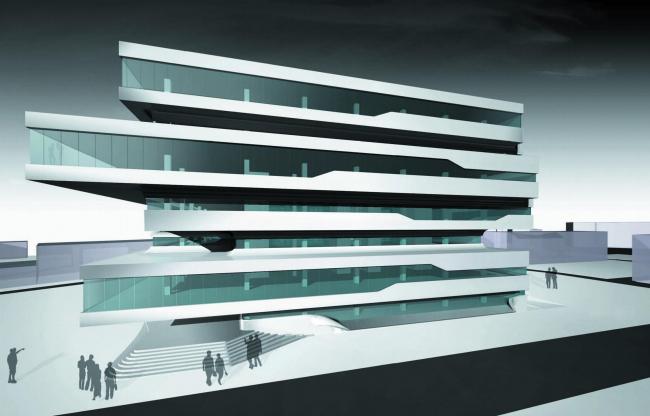 Бизнес-центр Dominion Tower. Ранний вариант проекта © Zaha Hadid Architects