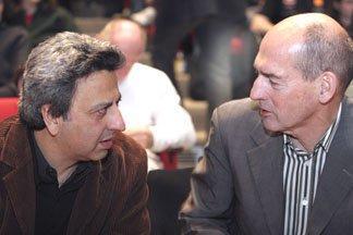 Ректор Колледжа архитектуры, искусства и планирования Мохсен Мостафави (Mohsen Mostafavi) и Рем Колхас