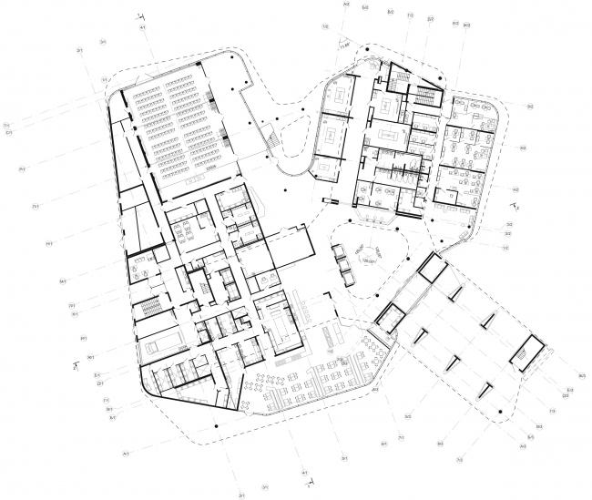 Гостиница Four Points by Sheraton. План 1 этажа