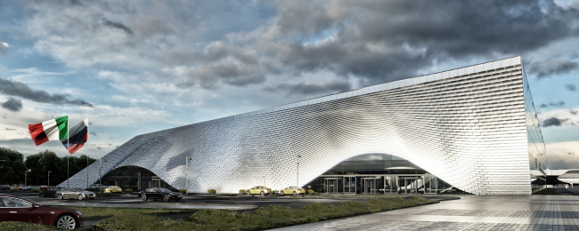 Chelyabinsk airport, a competition project, 2016